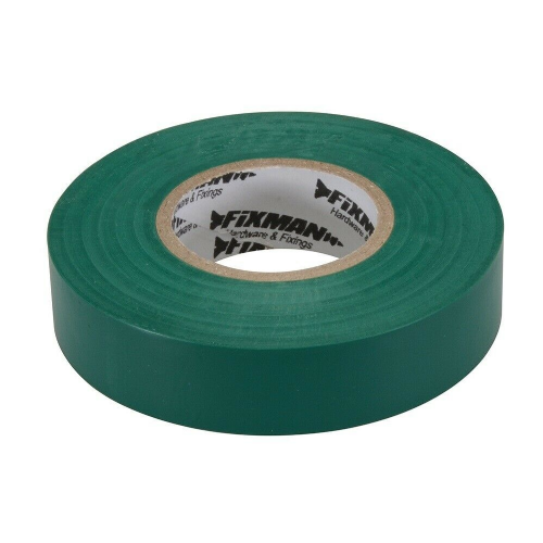 Fixman 187154 Electrical Insulation Tape 19mm x 33m Green